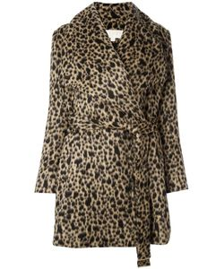 Michael Michael Kors | Belted Leopard Print Coat Medium
