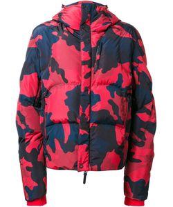 KRU | Camouflage Hooded Padded Jacket Medium Polyester