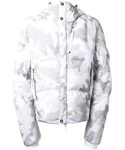 KRU | Camouflage Hooded Padded Jacket Large Polyester