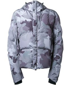 KRU | Camouflage Hooded Padded Jacket Large Polyester