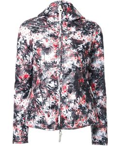 KRU | Palm Print Hooded Puffer Jacket Medium Polyester