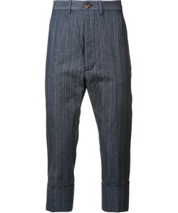 Vivienne Westwood | Man Striped Cropped Trousers 48 Polyester/Viscose/Cotton