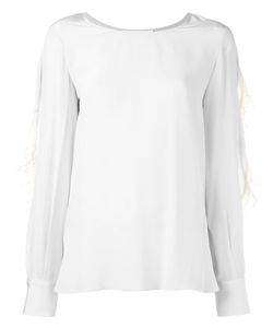 See By Chloe | See By Chloé Lace Trim Blouse 38 Polyester/Spandex/Elastane/Silk