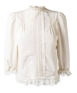 Dsquared2 | Ruffled Hem Pleated Blouse 44 Cotton/Polyamide