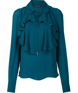 Plein Sud | Ruffled Blouse 40 Silk