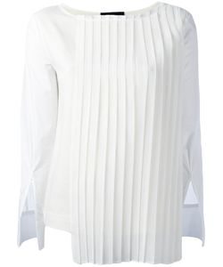 Erika Cavallini | Pleated Panel Blouse 40 Polyester/Silk/Cotton