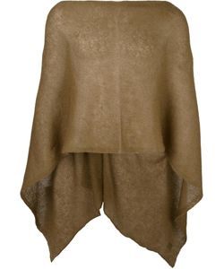AL DUCA D'AOSTA | 1902 Sheer Knitted Short Cape Acrylic/Polyamide/Mohair