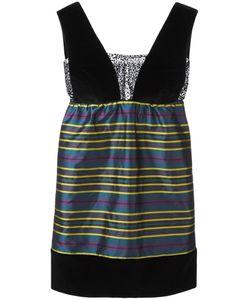 Isa Arfen | Striped Mini Dress 8 Silk/Cotton/Spandex/Elastane/Viscose