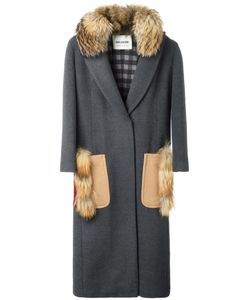 AVA ADORE | Poppy Coat 42 Virgin Wool/Cashmere/Racoon Fur/Cotton