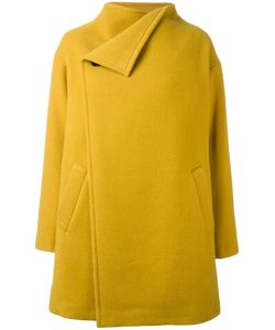 Plantation | Funnel Neck Mid-Length Coat Small Wool/Nylon/Cupro