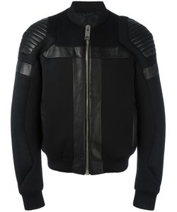 Les Hommes | Panelled Bomber Jacket 52 Viscose/Polyester/Cotton/Leather
