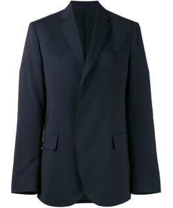 MSGM | Open Front Blazer Womens Size 44 Virgin Wool/Spandex/Elastane/Polyester