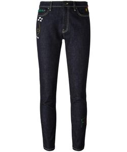 Mira Mikati | Embroidered Rocket Skinny Jeans 40 Cotton/Spandex/Elastane