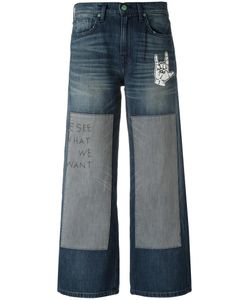 Sandrine Rose | Embroidered Patchwork Jeans 25 Cotton