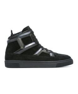 Louis Leeman | Panelled Hi-Top Sneakers 44 Suede/Leather/Rubber