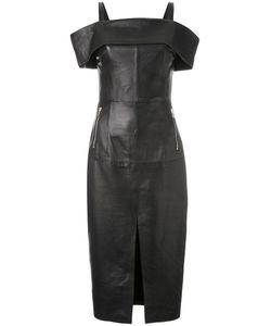 Rebecca Vallance   Astor Off-The-Shoulder Dress 14 Lamb Skin