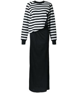 A.F.Vandevorst | Striped Maxi Dress Small Cotton/Spandex/Elastane/Wool/Polyester