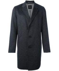 Theory | Reversible Single Breasted Coat Large Polyester/Cashmere/Bemberg