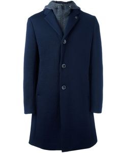 Emporio Armani | Hood Insert Coat Medium Wool/Polyamide/Polyester/Spandex/Elastane