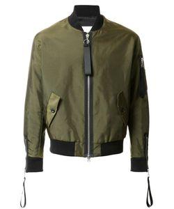 MATTHEW MILLER | Cuff Zip Detail Bomber Jacket Xl