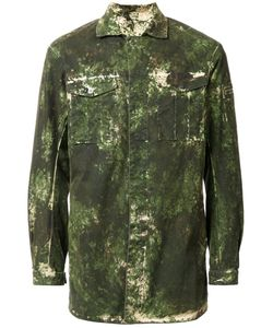 11 BY BORIS BIDJAN SABERI | Washed Camouflage Print Jacket