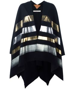 ERMANNO GALLAMINI | Striped Cape Virgin Wool/Cashmere