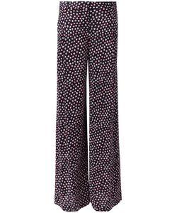 Diane Von Furstenberg | Dotted Print Trousers 6 Silk
