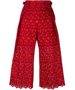 Sacai | Guipure Lace Cropped Trousers 2 Cupro/Rayon/Polyester/Cotton
