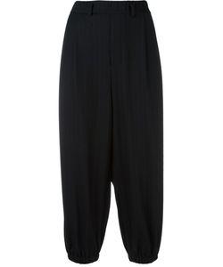 Lucio Vanotti | Elasticated Cuffs Cropped Trousers 4 Polyamide/Viscose/Cotton