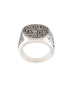 HENSON | Engraved Round Signet Ring Large