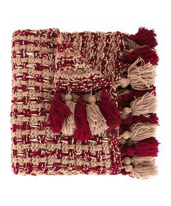 7II   Pompom Poncho Scarf Wool