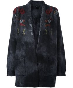 Avant Toi | Flowers Embroidered Cardigan Small Virgin Wool/Polyamide