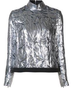 Delpozo | Zip-Up Turtleneck Blouse 38 Polyester/Silk