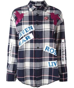 SOLD OUT FRVR | Printed Plaid Shirt Large Cotton/Polyester/Other