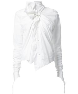 AGANOVICH | Bow Detail Blouse 36 Cotton/Spandex/Elastane/Viscose