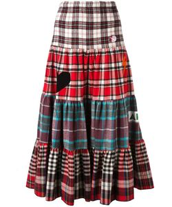 SOLD OUT FRVR | Checked Maxi Skirt Small Cotton/Polyester/Other Fibers