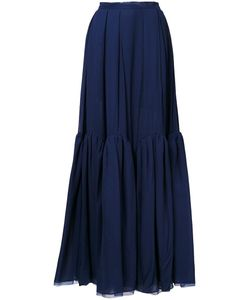 Delpozo | Flounce Maxi Skirt 38 Silk
