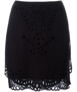 Iro | Broderie Anglaise Detail Skirt 40 Cotton/Viscose