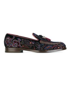 Fratelli Rossetti | Embroidered Loafers 39 Velvet/Leather