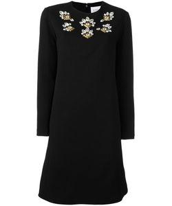 STEFANO DE LELLIS | Embellished Shift Dress 42 Polyester/Spandex/Elastane