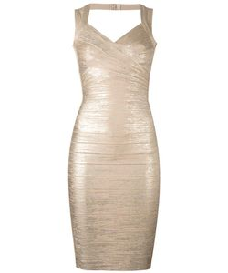 Hervé Léger | Fitted Dress Xs Rayon/Nylon/Spandex/Elastane