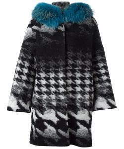 AVA ADORE | Margaret Coat 42 Racoon Fur/Cotton/Virgin Wool/Polyester