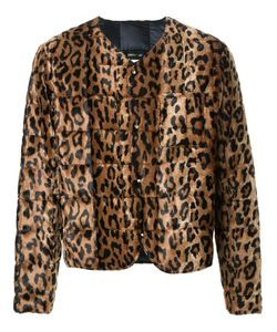 DRESS CAMP | Dresscamp Leopard Print Fur Jacket Adult Unisex Medium Rayon