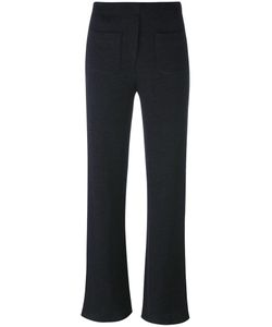 Helmut Lang | Ribbed Flare Trousers Medium Acrylic/Virgin Wool