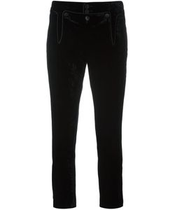 Dsquared2 | Victorian Cropped Trousers 40 Viscose/Cotton/Silk/Calf Leather
