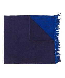 SUZUSAN   Frayed Colour Block Scarf Cashmere/Silk