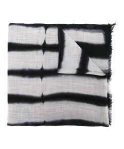 SUZUSAN | Striped Effect Frayed Scarf Wool