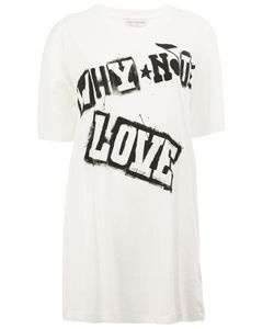 Faith Connexion | Love Print T-Shirt Womens Size Xs Cotton