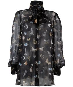 Alexander McQueen | Obsession Print Blouse 40 Silk
