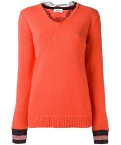 Aviù | Lace Collar Jumper 40 Cashmere/Polyester/Viscose/Polyamide